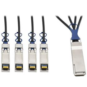 QSFP+ to 10 GbE SFP+ Passive DAC Breakout Cable (M/M), QSFP+ to (x4) SFP+, Compatible to Cisco QSFP-4SFP10G-CU3M, 3M (9.84 ft.)