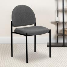 View Product - Comfort Gray Fabric Stackable Steel Side Reception Chair