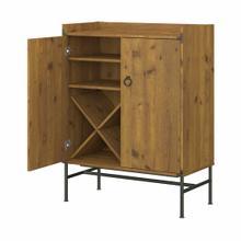 See Details - Bar Cabinet with Wine Storage, Vintage Golden Pine