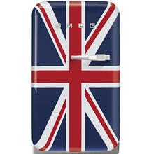 Smeg 50's Retro Style Aesthetic Mini Refrigerator 16-Inches, Union Jack, Left Hand Hinge