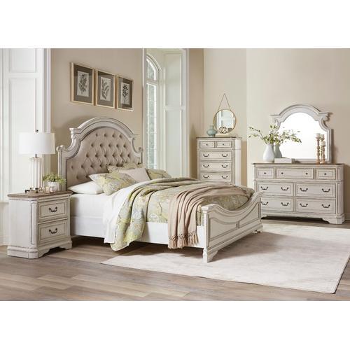 Standard Furniture - Stevenson Manor King Upholstered Bed, White