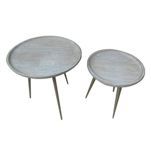 Bengal Manor Metal Legs Tray Top Tables