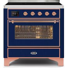Majestic II 36 Inch Electric Freestanding Range in Blue with Copper Trim
