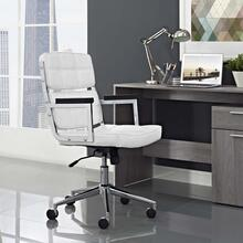 Portray Highback Upholstered Vinyl Office Chair in White