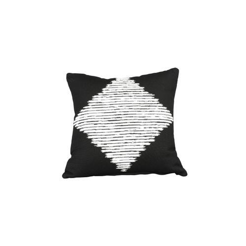 "Cabana Coast - Smolder Noir 18"" x 18"" Pillow"