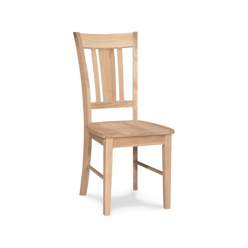 Unfinished San Remo Side Chair