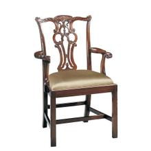 See Details - MASSACHUSETTS POLISHED MAH. ARM CHAIR
