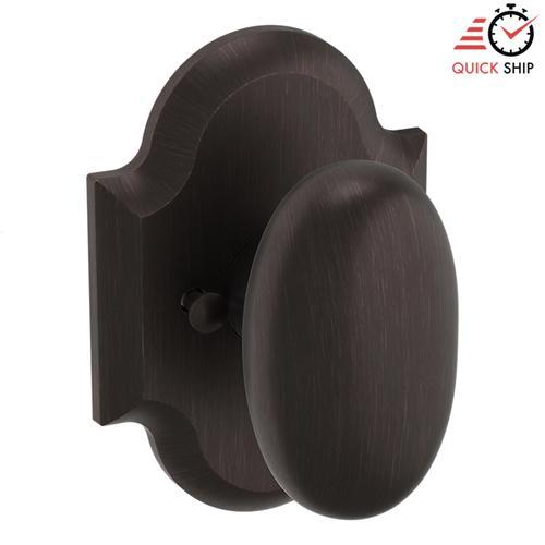 Baldwin - Venetian Bronze 5024 Oval Knob with R030 Rose
