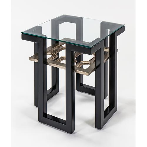 """End Table with Glass 25x25x26"""""""