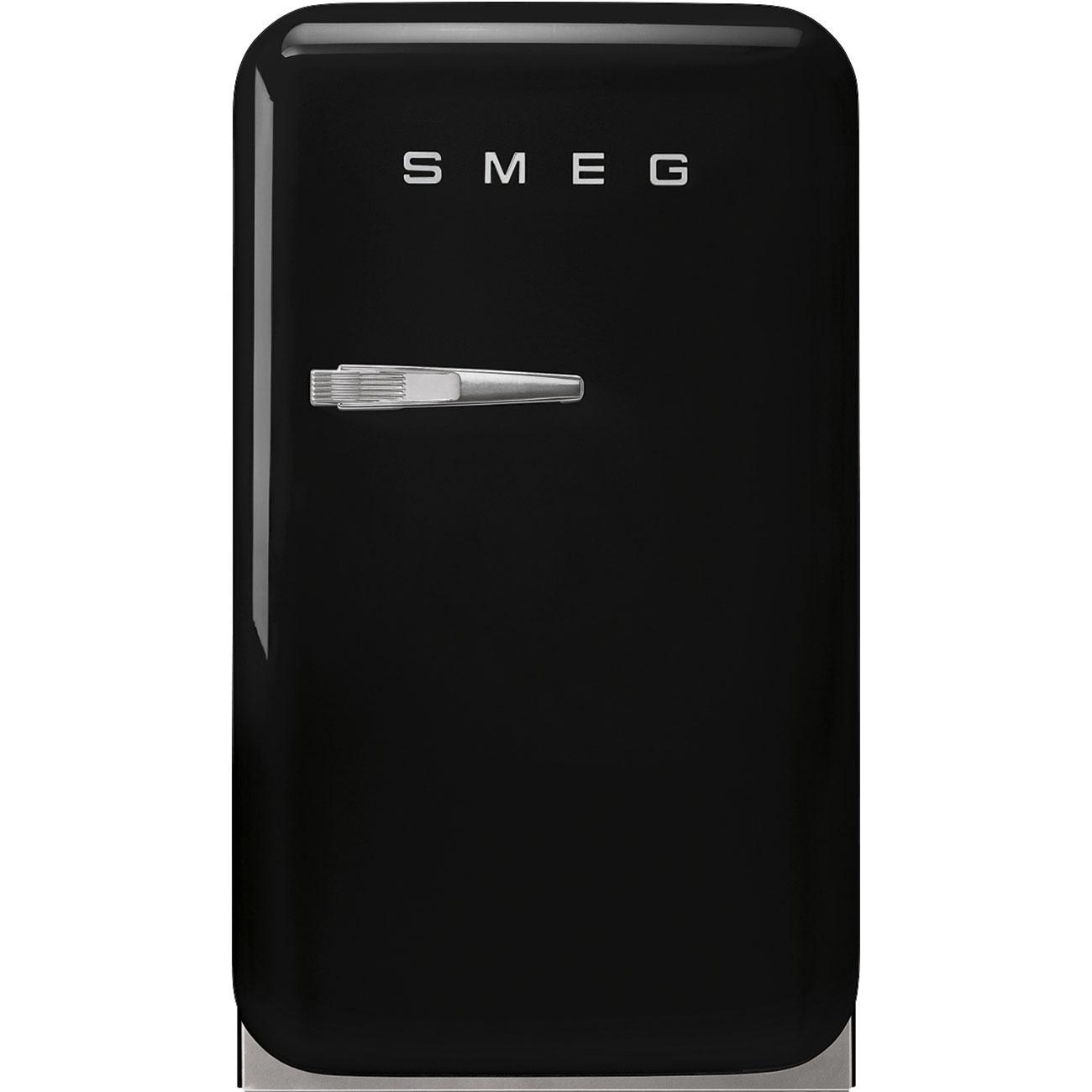 SmegRetro-Style Mini Refrigerator, Right-Hand Hinge, Black