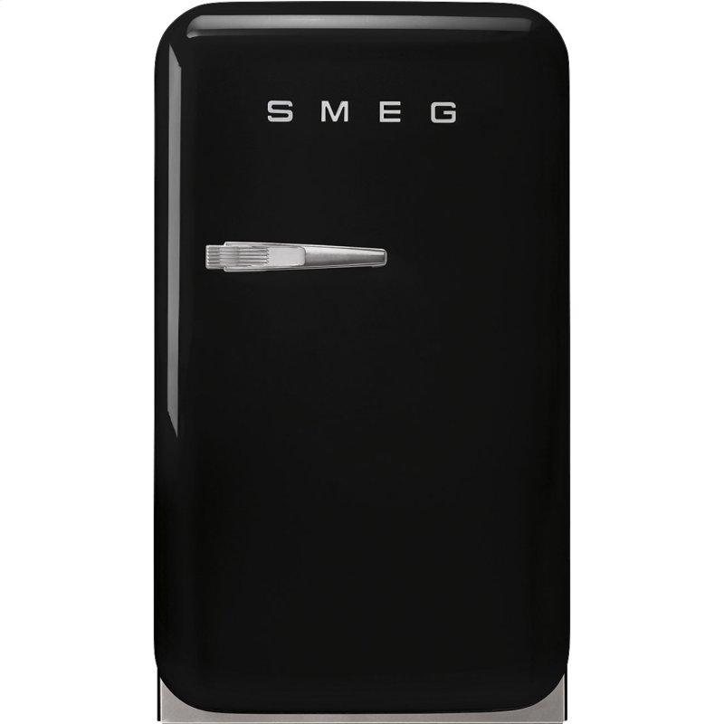 Retro-Style Mini Refrigerator, Right-hand hinge, Black