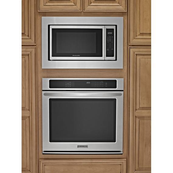 30 in. Microwave Trim Kit - Black-on-Stainless