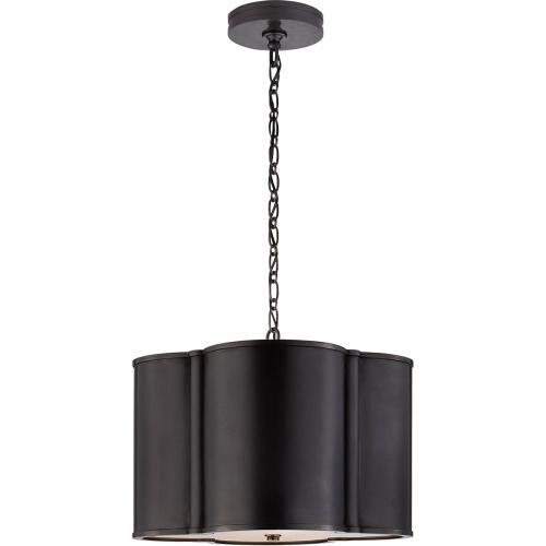 Visual Comfort AH5216GM Alexa Hampton Basil 2 Light 19 inch Gun Metal Hanging Shade Ceiling Light