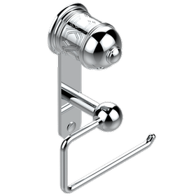 Toilet paper holder, single mount without cover