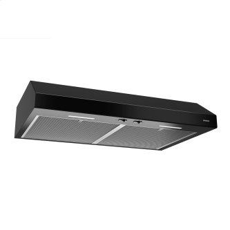 Broan™ 30-Inch Convertible Under-Cabinet Range Hood, ENERGY STAR™, 300 Max Blower CFM, Black