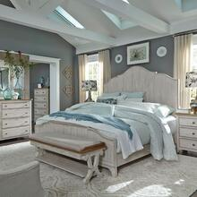 View Product - King Panel Bed, Dresser & Mirror, Chest, Night Stand