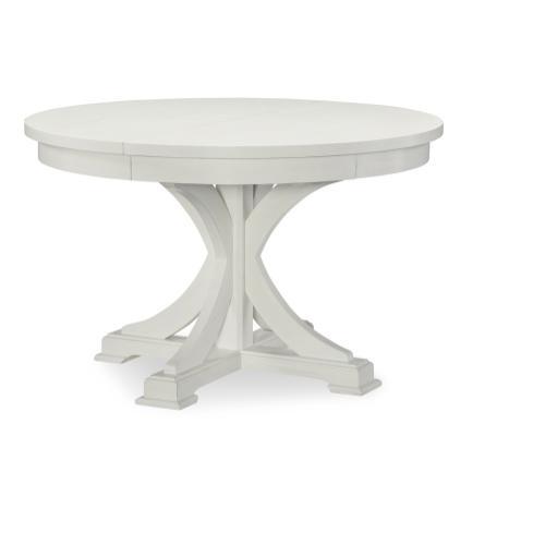 Round to Oval Pedestal Table - Sea Salt