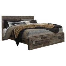Derekson King Panel Bed With 2 Storage Drawers