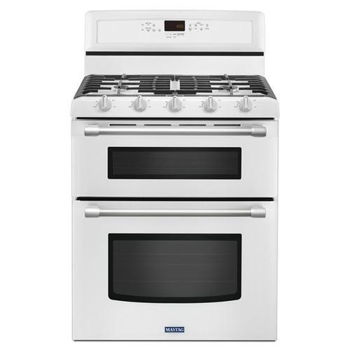 Gallery - Maytag® 30-inch Wide Double Oven Gas Range with Power™ Burner - 6.0 cu. ft. - White