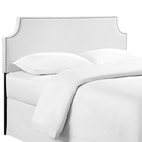 Modway - Laura King Upholstered Vinyl Headboard in White