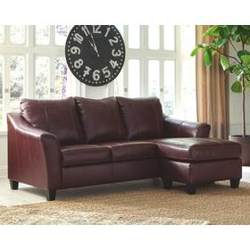 Fortney Sofa Chaise Mahogany