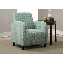 "ACCENT CHAIR - FADED GREEN "" ANGLED KALEIDOSCOPE """
