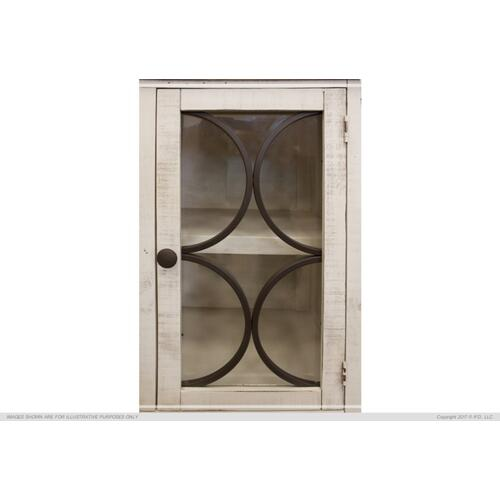 International Furniture Direct - Console w/ 4 glass doors w/ 3 Drawers