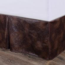 See Details - Brown Faux Leather Bed Skirt - Full