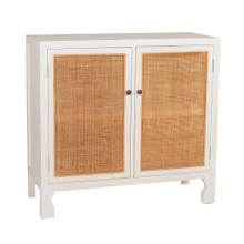 Dax Two Door Sideboard, Distressed White 37.60x15.75x35.04