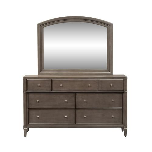 King Opt Panel Bed, Dresser & Mirror