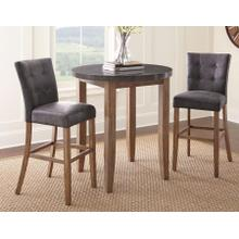 Debby Bluestone 3 Piece 40 inch Pub Dining - Grey (Pub Table & 2 Bar Chairs)