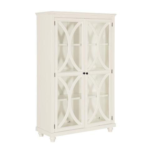 3 Shelf Bookcase Display Cabinet in White (Component 2 of 2)