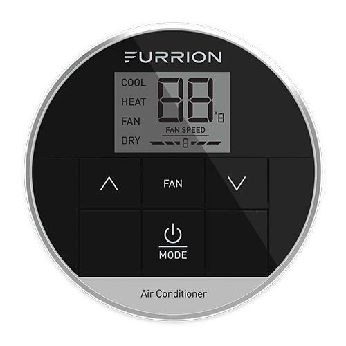 Furrion - Furrion CHILL%C2%AE Single Zone Basic Wall Thermostat - Black