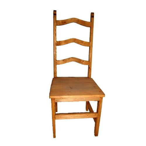 Wood Seat Ladder Back Chair