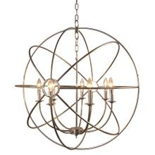 "33"" 7-Light Orb Chandelier in Satin Nickel"