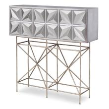 See Details - Snowflake Console Table - Silver Leaf