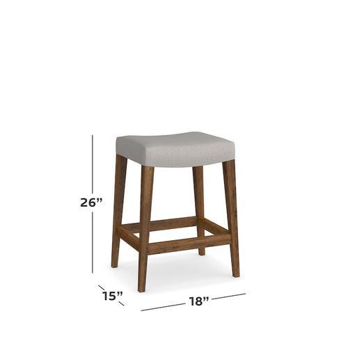 Bench*Made Maple Bar Saddle Stool