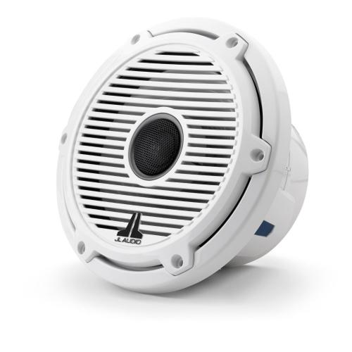 JL Audio - 7.7-inch (196 mm) Marine Coaxial Speakers, Gloss White Trim Ring, Gloss White Classic Grille