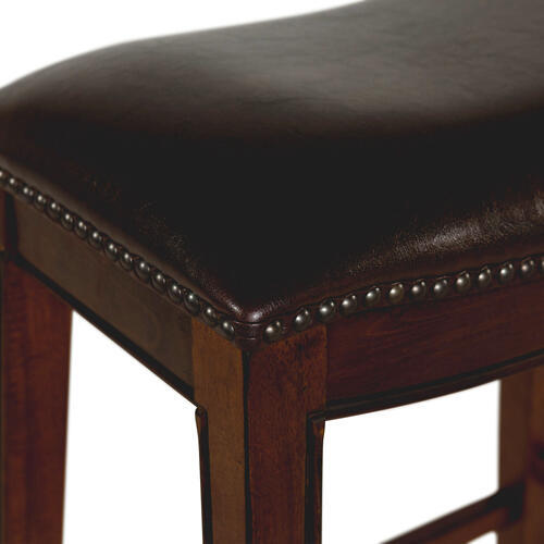 "Fiesta 24"" Backless Counter Height Stool in Brown"