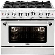 """See Details - Culinarian 36"""" Gas Manual Clean Range"""