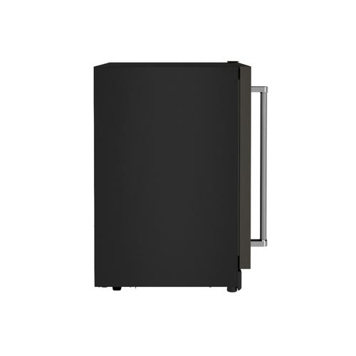 """KitchenAid Canada - 24"""" Beverage Center with Glass Door and Metal-Front Racks - Black Stainless"""