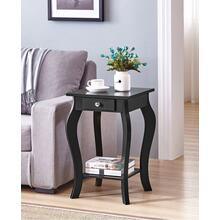 7092 BLACK Square Top End Table