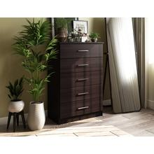 See Details - 7206 - 100% Solid Wood Metro 5-Drawer Chest, Java