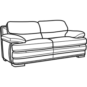 Dylan Leather Two-Cushion Sofa with Nailhead Trim
