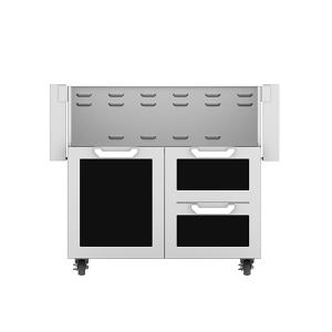 """Hestan - 36"""" Hestan Outdoor Tower Cart with Door/Drawer Combo - GCR Series - Stealth"""