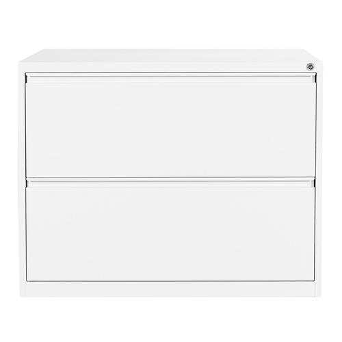 "36"" Wide 2 Drawer Lateral File With Core-removeable Lock & Adjustable Glides(white)"