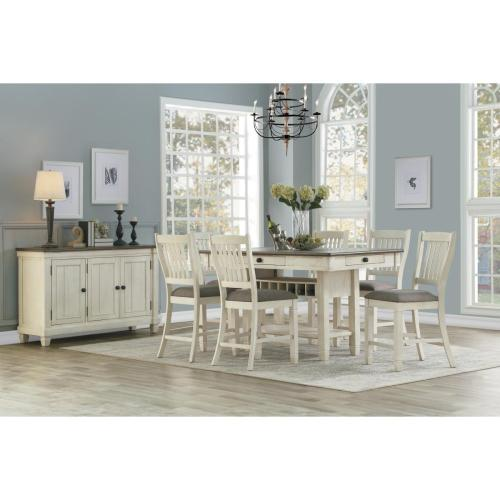 Homelegance - Granby 5-Piece Counter Height Dining Set