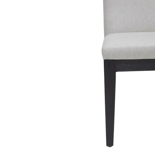 Smooth Back Upholstered Dining Chair in Natural White