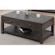 DLU-EL1608  Coffee Table with Drawers and Shelf  Gray