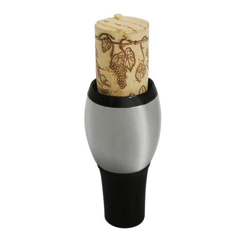 Epicureanist Chrome Wine Stopper and Cork Holder
